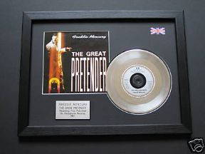 "FREDDIE MERCURY - The Great Pretender 7"" platinum Disc with Cover"